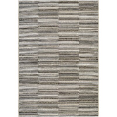 Napa Black/Gold Indoor/Outdoor Area Rug Rug Size: Rectangle 710 x 109