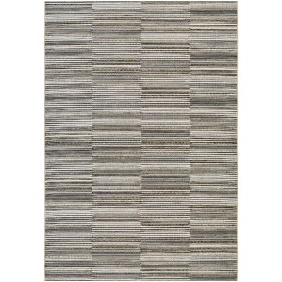 Napa Black/Gold Indoor/Outdoor Area Rug Rug Size: Rectangle 53 x 76