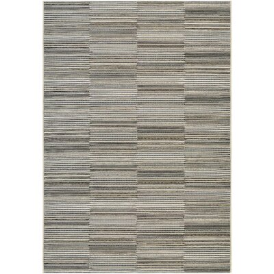 Napa Black/Gold Indoor/Outdoor Area Rug Rug Size: Rectangle 311 x 56