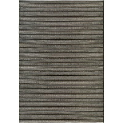 Napa Black/Tan Indoor/Outdoor Area Rug Rug Size: Runner 23 x 119