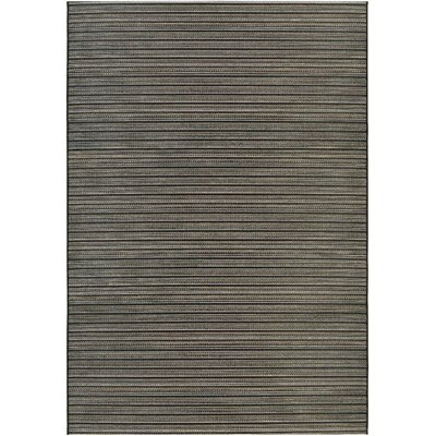 Napa Black/Tan Indoor/Outdoor Area Rug Rug Size: Rectangle 710 x 109