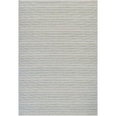 Napa Light Blue/Greyish Silver Indoor/Outdoor Area Rug Rug Size: Rectangle 53 x 76