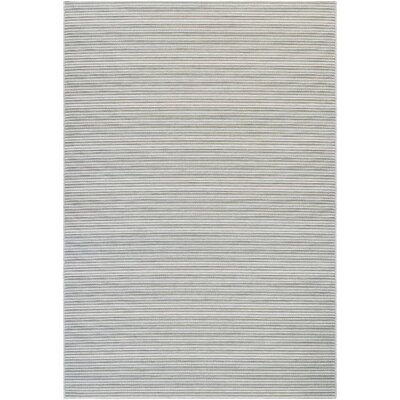 Napa Light Blue/Greyish Silver Indoor/Outdoor Area Rug Rug Size: Rectangle 311 x 56
