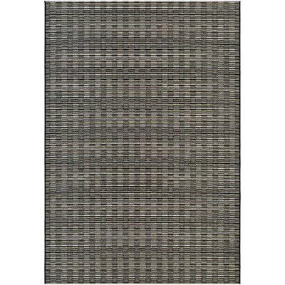 Napa Brown/Gray Indoor/Outdoor Area Rug Rug Size: 53 x 76