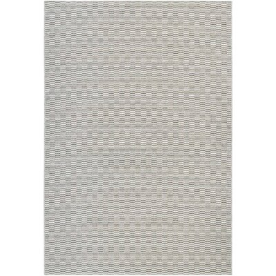 Napa Light Blue/Silver Indoor/Outdoor Area Rug Rug Size: 53 x 76