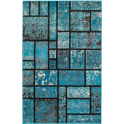 Russet Teal Area Rug Rug Size: 2 x 3