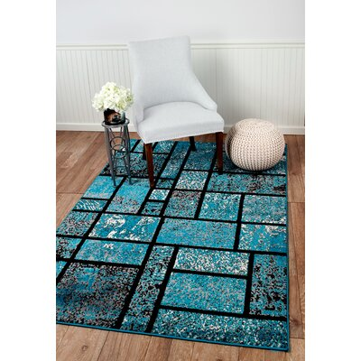 Russet Teal Area Rug Rug Size: Rectangle 38 x 5
