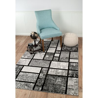 Russet Gray Area Rug Rug Size: Rectangle 74 x 106