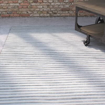 Braflin Hand-Woven Slate Area Rug Rug Size: 5 x 7