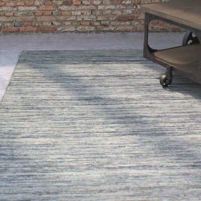 Braflin Hand-Woven Silver Area Rug Rug Size: 5 x 7