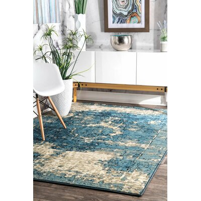 Stewiacke Blue Area Rug Rug Size: Rectangle 710 x 112