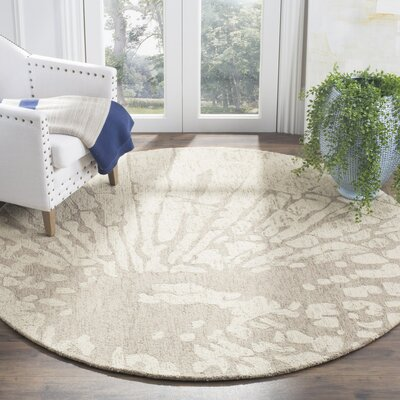 Adan Taupe Area Rug Rug Size: Rectangle 6 x 9