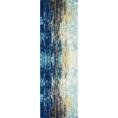 Stevensville Blue Area Rug Rug Size: Runner 28 x 8