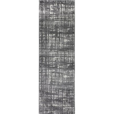 Dixon Gray Area Rug Rug Size: Runner 27 x 8