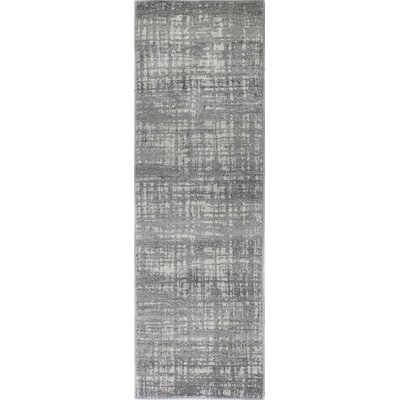 Dixon Silver Area Rug Rug Size: Runner 27 x 8