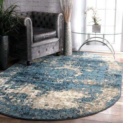 Stewiacke Blue Area Rug Rug Size: Oval 511 x 9