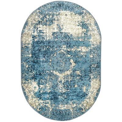 Montross Blue Area Rug Rug Size: Oval 511 x 9
