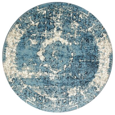 Montross Blue Area Rug Rug Size: Round 53