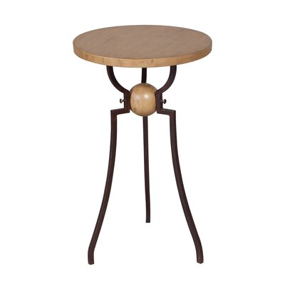 McKinley Wood and Metal End Table