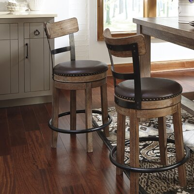 Empire Swivel Bar Stool Seat Height: 24.25