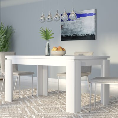 Bleecker Wood Dining Table Finish: White