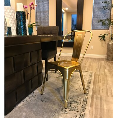 Halie Side Chair Finish: Chrome Gold