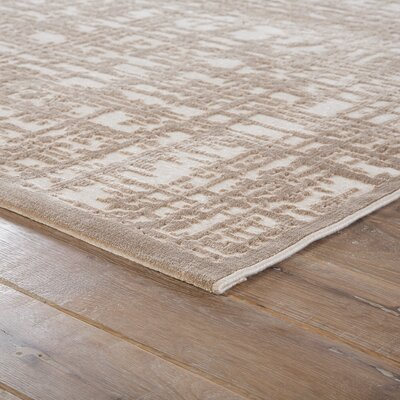 Oak Ivory/Beige Area Rug Rug Size: Rectangle 5 x 76