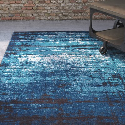 Coolidge Modern Distressed Blue Area Rug Rug Size: Runner 23 x 73