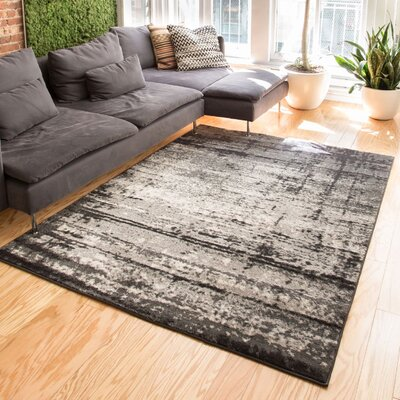 Coolidge Modern Distressed Gray Area Rug Rug Size: 710 x 106