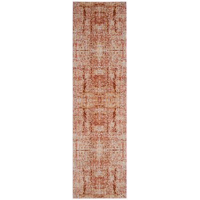 Piers Red Area Rug Rug Size: Runner 23 x 8