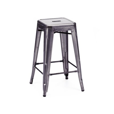 Halie 26 Bar Stool Finish: Dark Gunmetal