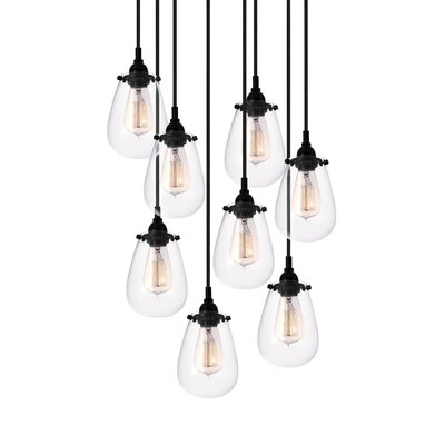 Lamson 8-Light Cascade Pendant