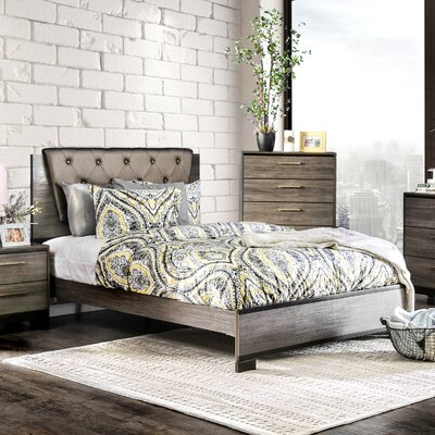 Pinnacles Upholstered Panel Bed Size: California King