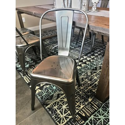 Halie Side Chair Finish: Clear Gunmetal