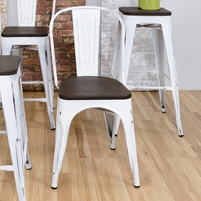 Claremont  Bar Stool Finish: White/Espresso