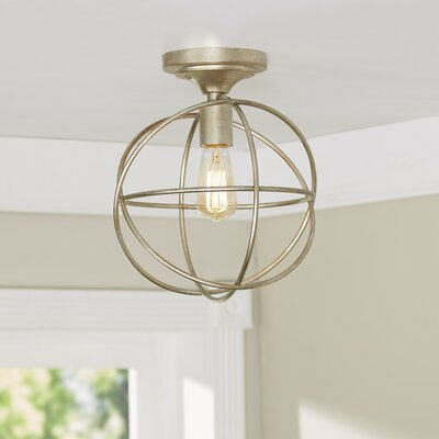 Irwindale 1-Light Semi Flush Mount Finish: Silver Gold