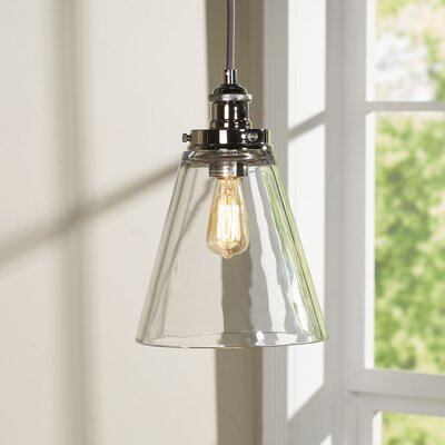 Bedford 1-Light Mini Pendant Finish: Polished Nickel