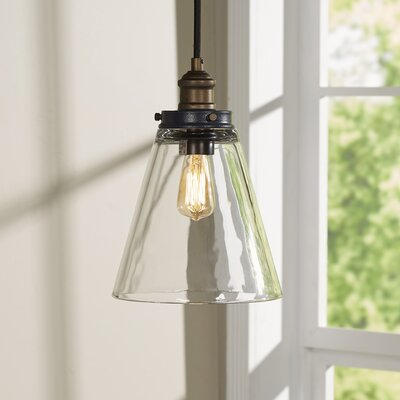 Bedford 1-Light Mini Pendant Finish: Painted Aged Brass / Dark Weathered Zinc