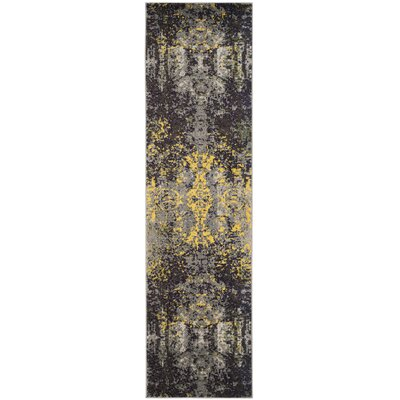 Mckee Gray Area Rug Rug Size: Runner 22 x 8