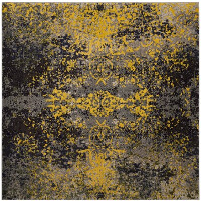 Mckee Gray Area Rug Rug Size: Square 67
