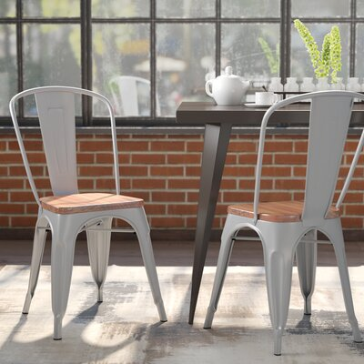 Hugo Dining Chair Color: Silver