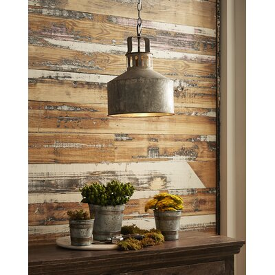 Alexandrea Galvanized 1-Light Mini Pendant