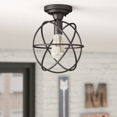 Allagash 1-Light Semi Flush Mount Finish: Oil Rubbed Bronze