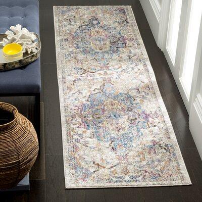 Arapaho Blue/Light Gray Area Rug Rug Size: Runner 23 x 8