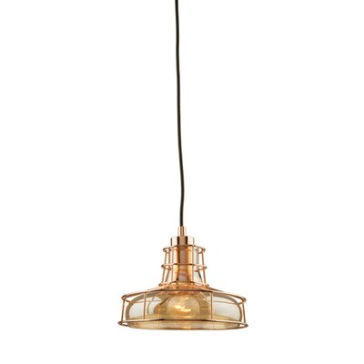 Gladys 1-Light Canopy Mini Pendant Finish: Rose Gold