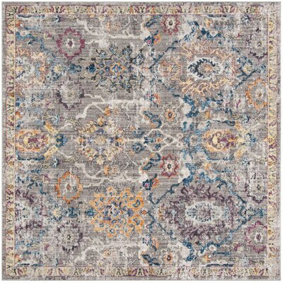 Hailey Gray Area Rug Rug Size: Square 7