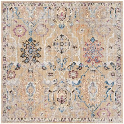 Hailey Camel/Blue Area Rug Rug Size: Rectangle 9 x 12