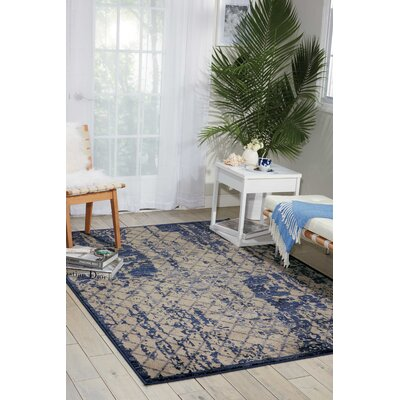 Casiodoro Ivory/Navy Area Rug Rug Size: Rectangle 39 x 59