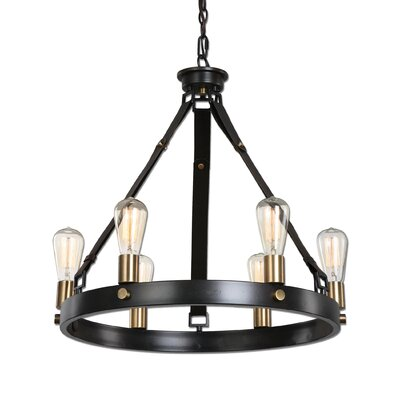 Clyde 6-Light Candle-Style Chandelier