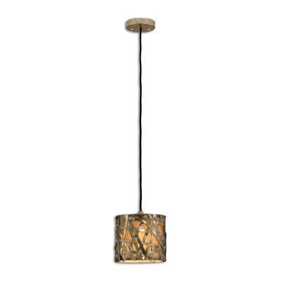 Spiritwind 1-Light Mini Pendant Finish: Champagne Satin